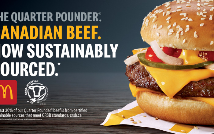 McDonalds Canada now with sustainable sourcing in its Quarter Pounders