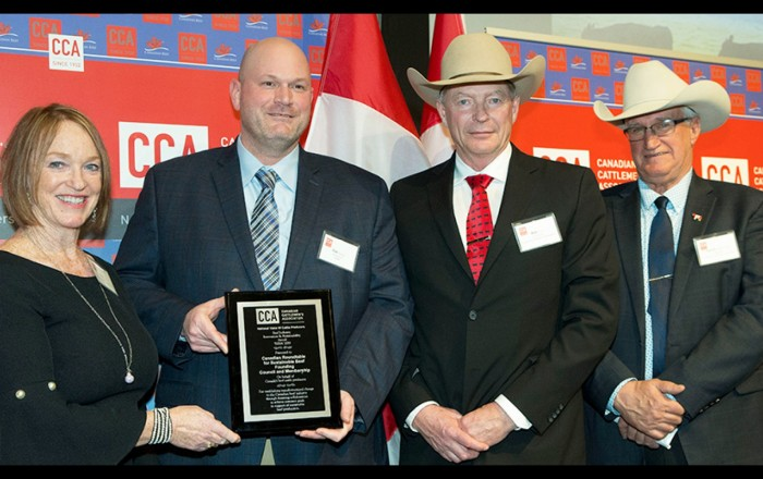 CRSB recognized with 2019 Beef Industry Innovation and Sustainability Award